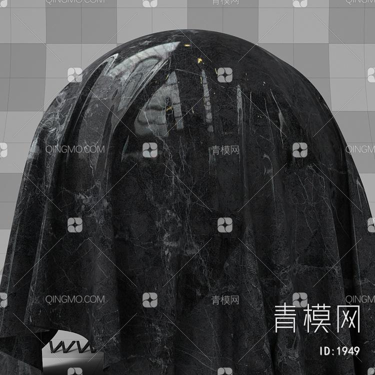 黑色大理石vary材质下载【ID:1949】