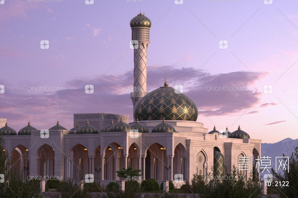 阿拉伯古典建筑清真寺