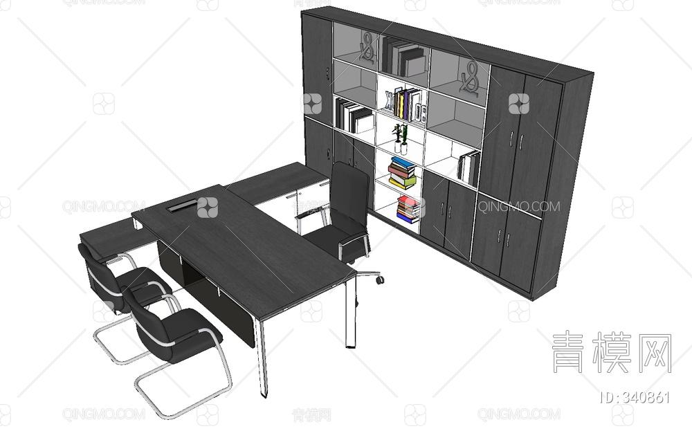 办公桌书柜