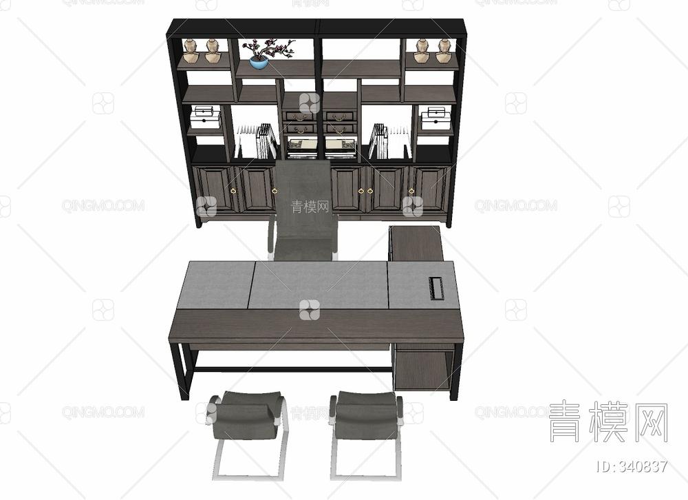 办公桌文件柜组合