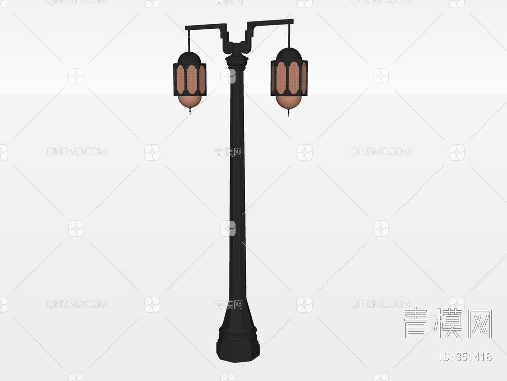 户外灯su模型下载【ID:351418】