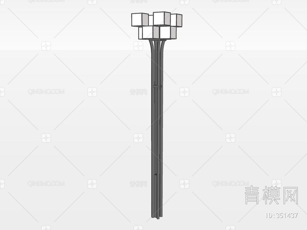 户外灯su模型下载【ID:351437】