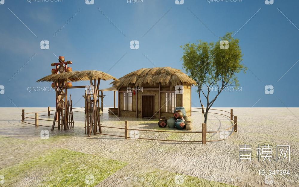 酿酒房3D模型
