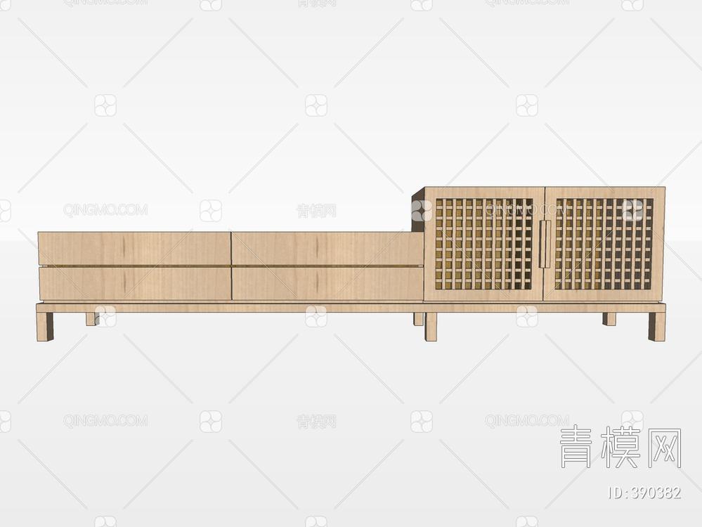 电视柜SU模型下载【ID:390382】
