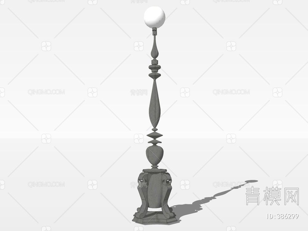 景观庭院灯SU模型下载【ID:386299】