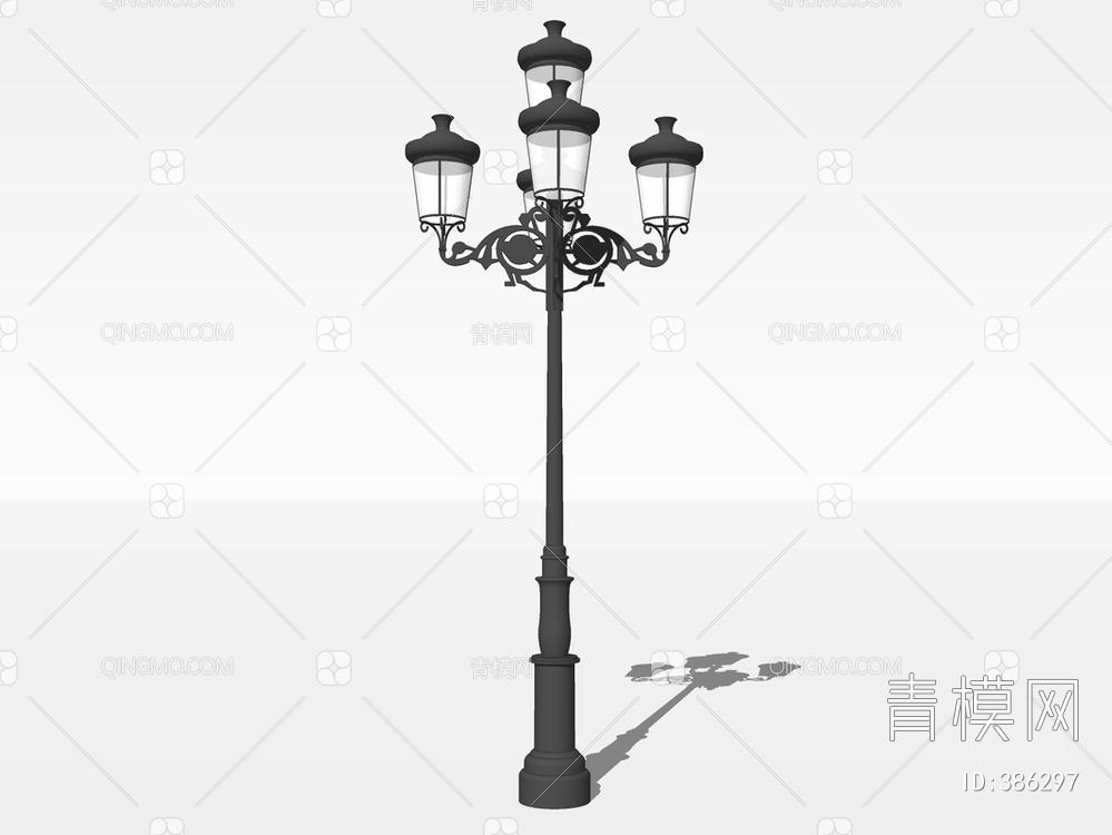 景观庭院灯su模型下载【ID:386297】