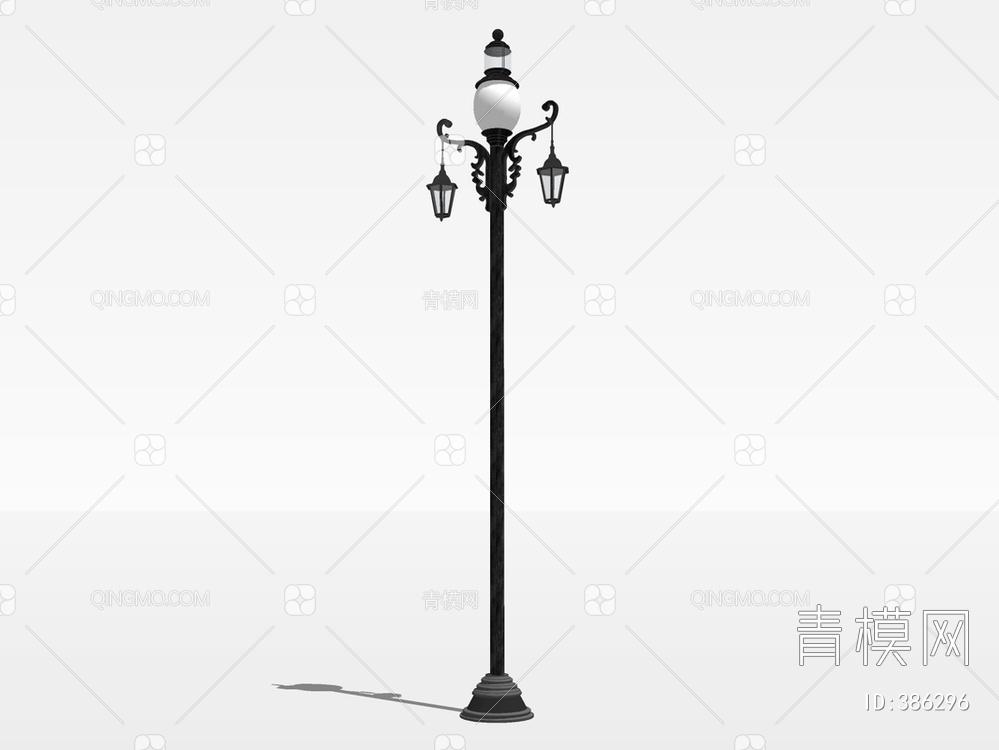 景观庭院灯su模型下载【ID:386296】