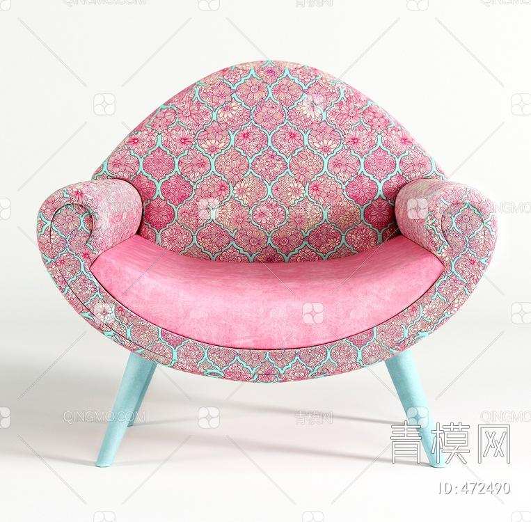 粉色沙发椅