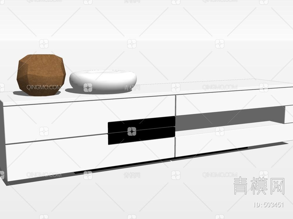 电视柜SU模型下载【ID:503451】