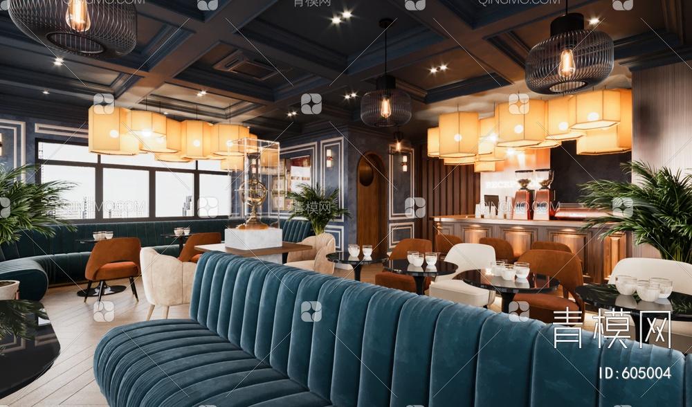 咖啡店3D模型下载【ID:605004】