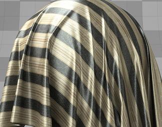Misa黄黑条纹丝绸材质库vary材质下载【ID:1045】