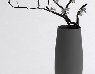 梅花花枝花瓶