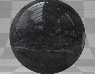 黑色大理石材质库vary材质下载【ID:10486】