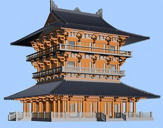ZKH#中式古建筑(古建3)古建筑30804 风格建筑 古建 42