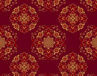 植物图案地毯