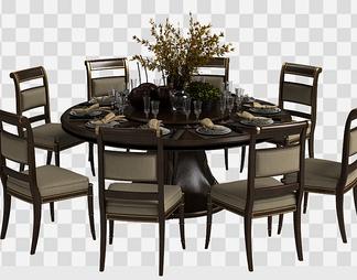 餐桌椅餐具组合