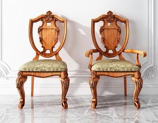 欧式单椅扶手椅组合