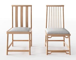 新中式单椅组合3D模型