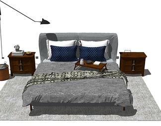 中式风格床具组合