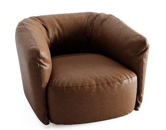 单人皮革沙发