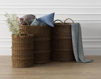 编织洗衣篮