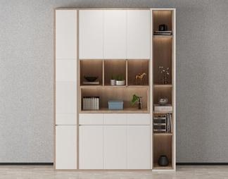 北欧玄关柜书柜3D模型