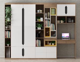 现代书架书柜3D模型