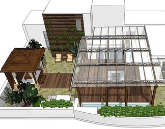 美式屋顶庭院景观