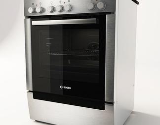 现代烤箱3D模型