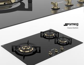 现代燃气灶3D模型