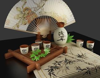 中式茶杯3D模型下载
