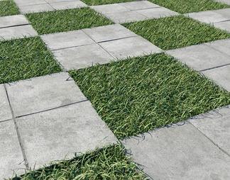 现代地砖3D模型