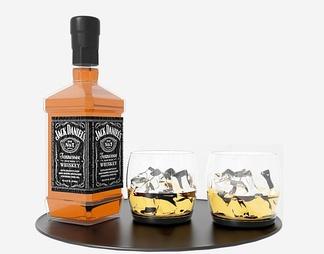酒瓶酒杯组合