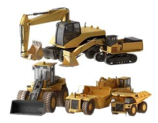 现代挖掘机机器