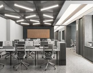 现代工业风办公室