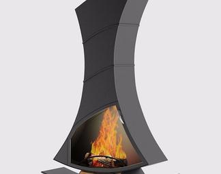 现代火炉3D模型