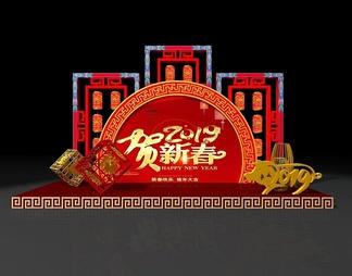 新中式美陈新年福ID:932758187