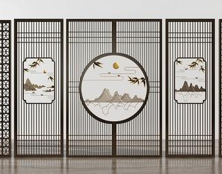 新中式花格屏风