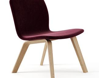 北欧木质休闲椅
