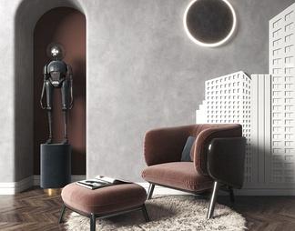现代轻奢休闲椅