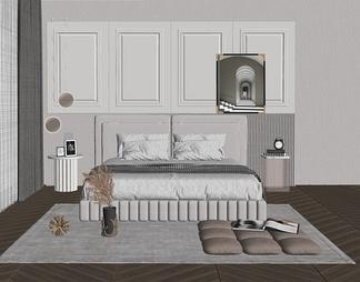 现代卧室国外 床具