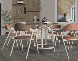 现代家居餐厅 餐桌椅组合