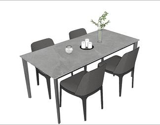 岩板餐桌、餐椅