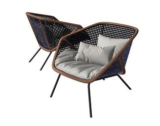 现代流行miniforms编织休闲椅