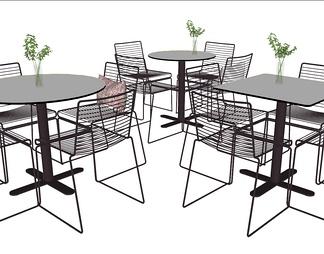 休闲餐桌椅组合