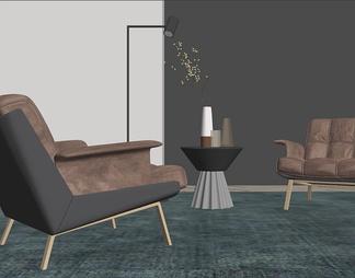 现代Minotti休闲椅