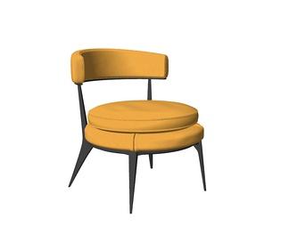 现代流行Maxalto Caratos休闲椅