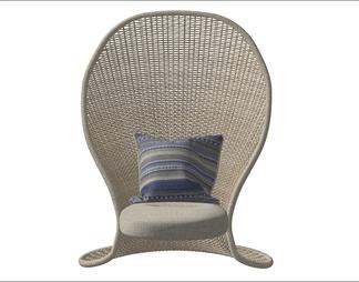 现代流行木质休闲椅