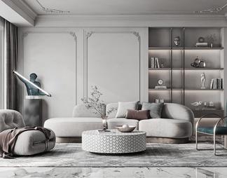 家居客厅3D模型3D模型下载【ID:569087】