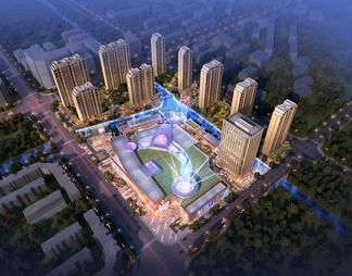城市商业综合体MALLSU模型SU模型下载【ID:572711】